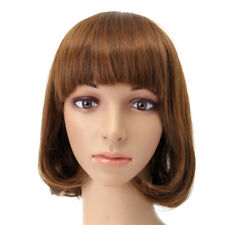 SHORT WAVY CURLY BANGS WIG HAIR COSTUME COSPLAY SYNTHETIC FULL WIGS CUTE