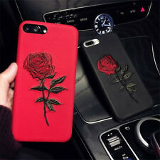 Embroidery Gothic Floral Flower Rose Phone Case Cover For iPhone 8/7/6s/Plus