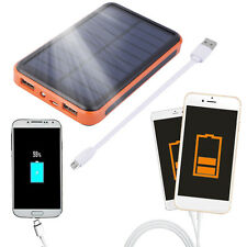 Large Capacity Waterproof Solar Power Bank Dual USB Solar Charger Lot T2