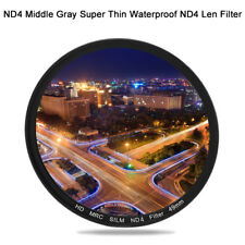 49/52/55/58/62/67/72/77MM ND4 Middle Gray Super Thin Waterproof ND4 Len FilterFY
