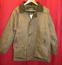 Country Classic Saddle Mens Shooting/Hunting Tweed Waterproof Jacket Size S-XXXL