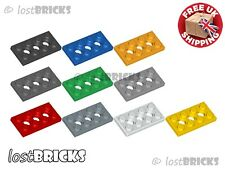 6 x NEW LEGO Technic Plates 2x4 with Holes (Part 3709 / 3709b) + SELECT COLOUR