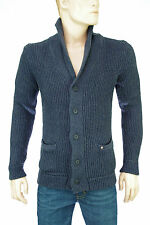 JACK and JONES by VINTAGE gilet homme bleu JACK KNIT CARDIGAN INDIGO taille S