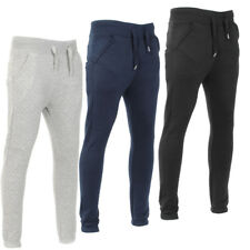 Mens Quilted Skinny Fleece Jog Bottoms Sweat Pants Joggers Trousers Size