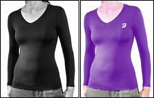 Womens Compression Top Long Sleeve Base Layer Thermal Rash Guard Running Gym Top