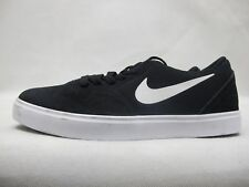 Junior Nike SB Check Solar Shoes Black White Suede Lace Up Trainers