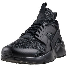 Mens Nike Air Huarache Run Ultra Se Textile Black Grey Shoes Trainers Casual