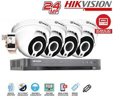 Hikvision DVR 1080P 2.4MP SONY Turret CCTV Prolux Outdoor Night Vision Security