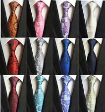 Classic Paisley Men's Necktie Jacquard Woven Tie Business Working Party Gift