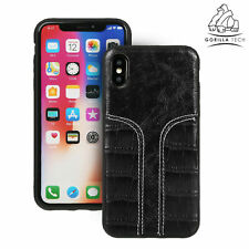 New Dual Tone Leather Back Slim Case Gorilla Tech Durable High Quality Design
