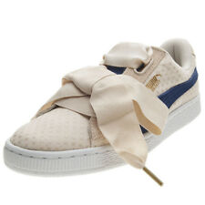 Scarpe Puma Basket Heart Denim 363371-03 Beige