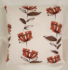 "14"" 16"" 18"" Cushion Cover Belfield Kristen Floral Orange Beige Cotton Fabric"