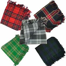 "TE New Kilt Fly Plaid various Tartans 48"" X 48"" Scottish Highland Kilt fly plaid"