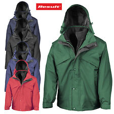 RESULT 3-in-1 Uomo Outdoor Wind Giacca impermeabile resistente FODERA Pile