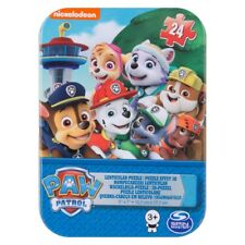 24 Pcs Paw Patrol Kids  Jigsaw Puzzle 3D Game In Tin Travelling Activity Game