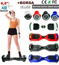 6,5'' HOVERBOARD DUEL MOTORE 18 LUCI LED BLUETOOTH + BORSA SMART SCOOTER LK