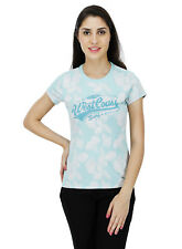 Five Stones Women's Blue All Over Print T-Shirt (FS1469W0103)