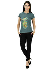 Five Stones Women's Green All Over Print T-Shirt (FS1469W0102)