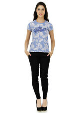 Five Stones Women's Purple All Over Print T-Shirt (FS1469W0105)