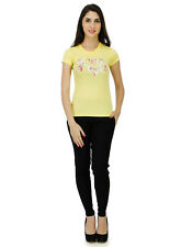 Five Stones Women's Yellow All Over Print T-Shirt (FS1469W0107)