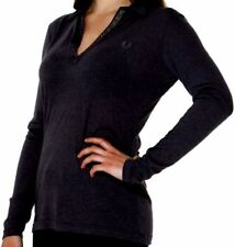 Camisa Polo Mujer V-cuello Negro Fred Perry Suéter Cuello En V Black 31052080