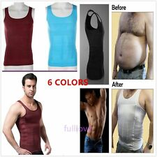 BEST MENS SLIMMING VEST TOP FOR MAN BOOBS MOOBS GYNECOMASTIA TANK BODY SHAPER vw
