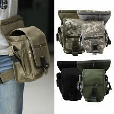 Outdoor Tactical Military Drop Leg Bag Panel Utility Waist Belt Pouch Bag y#