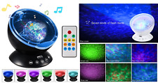 Ocean Wave Projector Night Light,Built-in Soft Music Player Projector Lamp