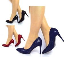 Ladies Womens Pointed High Heel Smart Work Party Pumps Court Shoes Size