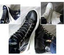 WOMENS BLACK WHITE BLUE HI TOP FLAT SNEAKERS TRAINERS LACE UP FLAT ANKLE BOOTS