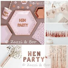 Team Bride to Be HEN Party Sashes ROSE GOLD PINK Tableware Balloons Accessories