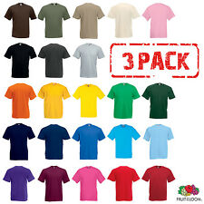 Pack de 3 FRUIT OF THE LOOM t-shirt coton uni T-Shirts hommes taille S-5XL