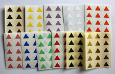 10mm forma triangular de color Pegatinas Etiquetas Adhesivas