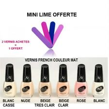 VERNIS A ONGLE FRENCH BLANC NUDE BEIGE BLANC CASSE MAT COUVRANT VER069