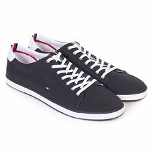 Tommy Hilfiger Men's H2285 Arlow 1D Canvas Lace Up Trainer Midnight Navy