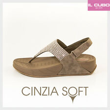 CINZIA SOFT INFRADITO DONNA ANATOMICO COLORE TAUPE ZEPPA H 4 CM NEW COLLECTION