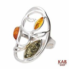 baltica AMBRA PIETRA argento sterling 925 anello. KAB -ring12a
