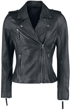 Black Premium by EMP Skull Leather Jacket Giacca donna nero