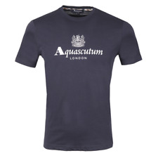 Aquascutum Griffin Crew Neck Logo T-shirt Navy Blue