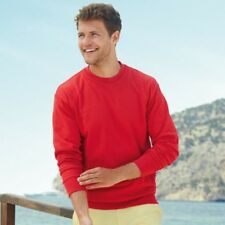 FRUIT OF THE LOOM uomo leggero pullover a girocollo FELPA ESTATE maglione