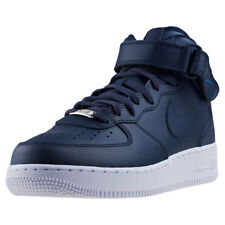 Mens Nike Air Force 1 Mid 07 Leather Obsidian White Shoes Trainers Casual BNIB