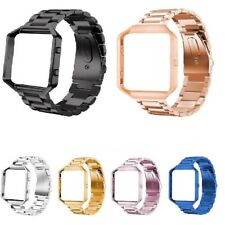 Stainless Steel Strap For Fitbit Blaze Watch Bracelet Metal Frame Replacement UK
