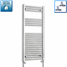 1100 x 600mm Designer Chrome Heated Towel Rail Radiator Central Heating Bathroom