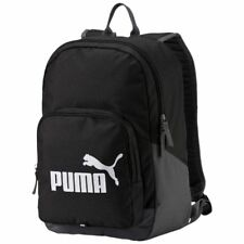Puma Phase Pioneer Backpack Rucksack Bag School Gym Sport Training Travel Black