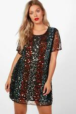 Boohoo Plus Hollie Star Sequin Embellished Shift Dress para Mujer