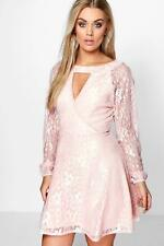 Boohoo Plus Emily Lace Skater Dress para Mujer