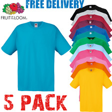 5 X FRUIT OF THE LOOM Homme T-shirt coton T-shirts tailles S-3XL GROS PAQUET