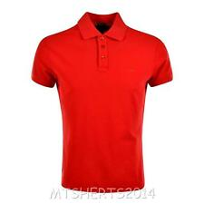 AJ Armani Jeans Mens Original Muscle Fit Short Sleeve Polo Top Shirt T Red PB6