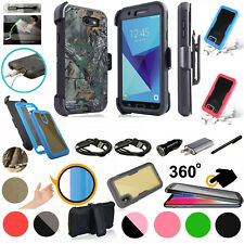 for Samsung Galaxy J7 2017 J7 SKY PRO Case 360° Screen Protector Holster Cover +