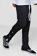 Boohoo Skinny Fit Panel Joggers With Poppers para Hombre